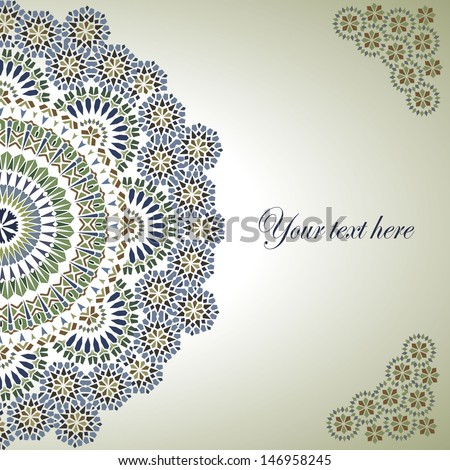 Vintage Background Traditional Ottoman motifs.Vector illustration - stock vector