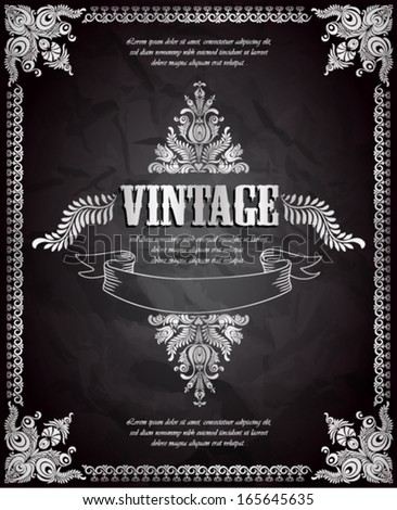 Vintage background. Vector illustration.