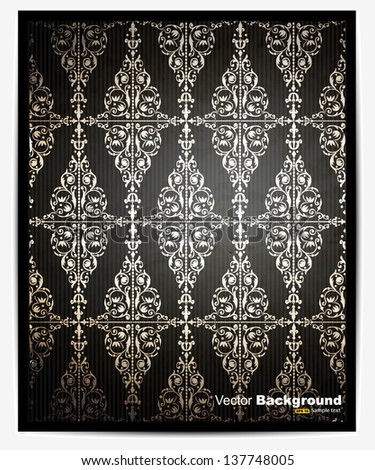 vintage background with classy patterns - stock vector