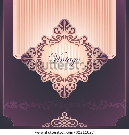 Vintage background with elegant design. Vector illustration. - stock vector