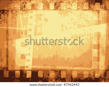 Vintage background with film flame. Vector format. - stock vector