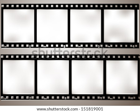 Vintage background with film frame. Vector format. - stock vector
