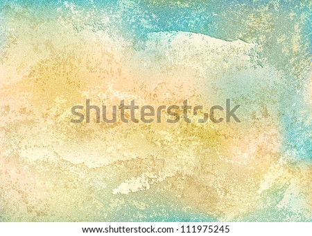 Vintage background with grunge texture cracks, remnants of the paint layer and noise effect. Blank abstract backdrop A4 format. This vector illustration clip-art design element 10 eps - stock vector