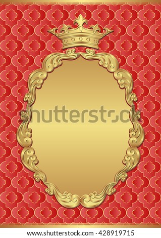 vintage background with royal frame - stock vector