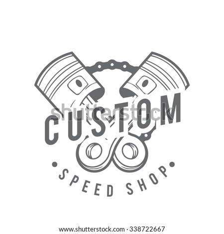 Vintage Badge Motorcycle Logo Vector Motorcycle Stock