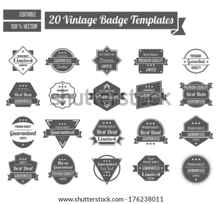 Vintage Badge Templates - stock vector