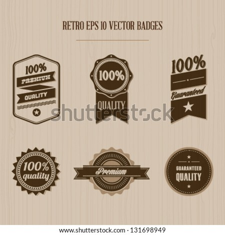 Vintage badges Editable EPS 10 vector - stock vector
