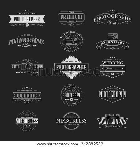 Vintage Badges Photography - stock vector