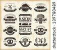 Vintage bakery labels set. Fully editable EPS10 vector. - stock vector