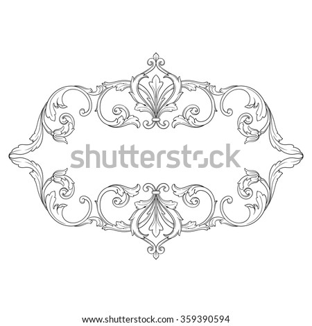 antique frame drawing. Vintage Baroque Frame Scroll Ornament Engraving Stock Vector Jpg 450x470  Swirls Filigree Vintage Drawing Pictures Antique O