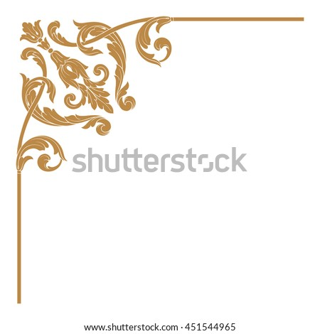 Calligraphic Design Element Page Decoration Stock Vector