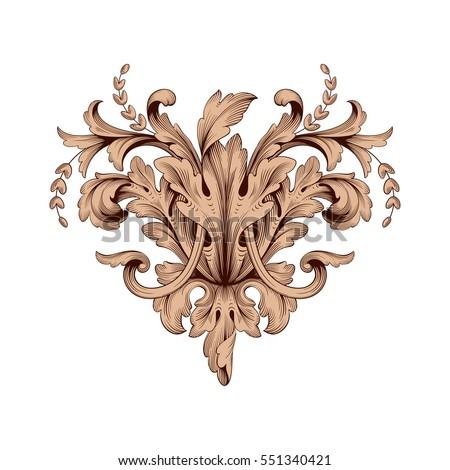 Acantstudio 39 s portfolio on shutterstock for Baroque design elements