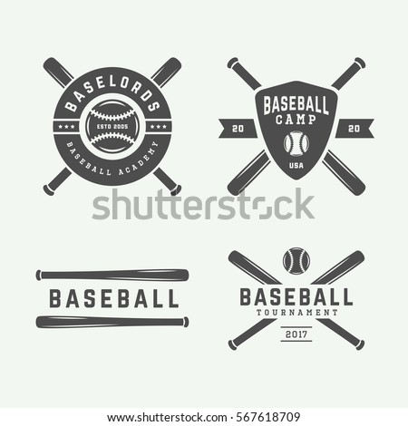 Baseball team logo stock images royalty free images vectors vintage baseball logos emblems badges and design elements vector illustration monochrome graphic sciox Image collections
