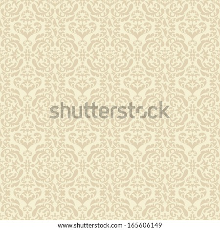 Vintage beautiful background with rich, exclusive, artistic, luxury ornamentation, fashioned seamless pattern, royal, vector wallpaper, floral, oldest style swatch fabric for decoration and design - stock vector