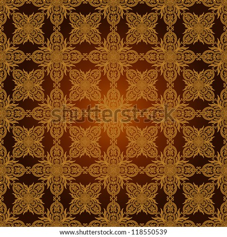 Vintage beautiful background with rich, old style, luxury ornamentation, fashioned seamless pattern, luxury, royal gold brown, vector floral, creative oldest style swatch fabric for decoration, design