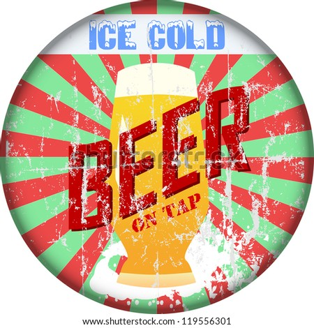 Vintage Beer sign - stock vector