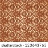 Vintage beige abstract ornate flowers seamless pattern - stock vector
