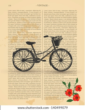 Vintage Bicycle - stock vector