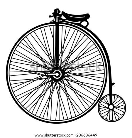 Vintage bicycle vector - stock vector