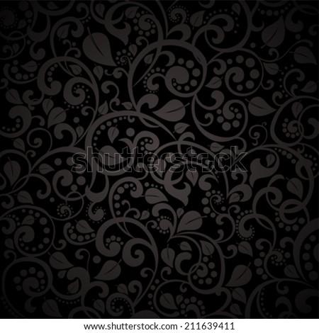 vintage black background hearts vector illustration stock vector