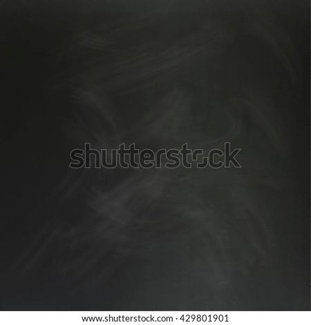 Vintage black school chalkboard background with chalk  stains. Vector illustration - stock vector