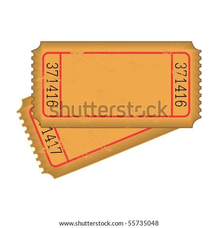 Vintage Blank Tickets - stock vector
