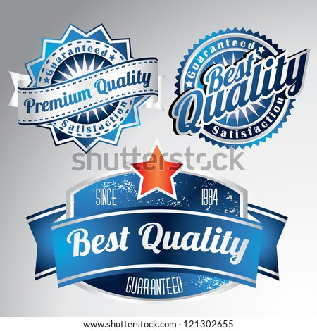 vintage blue premium quality collection - stock vector