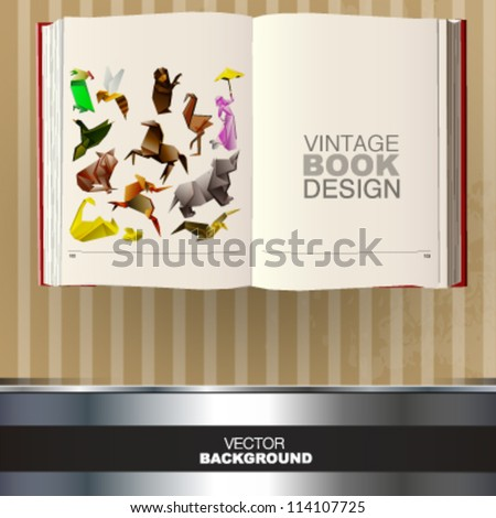 vintage book design. vector picture - stock vector