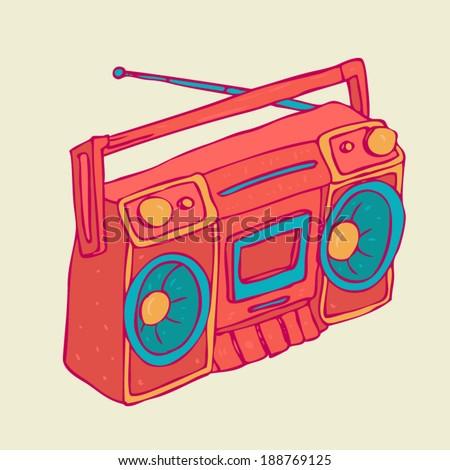 Retro Cassette Character Design Tee Stock Vector 344714603 ...