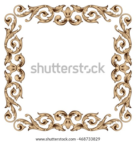 Gold traditional islam arabic indian ornament stock vector for Rococo decorative style
