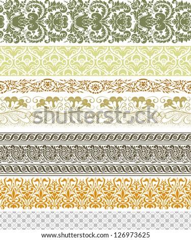 Vintage borders - stock vector