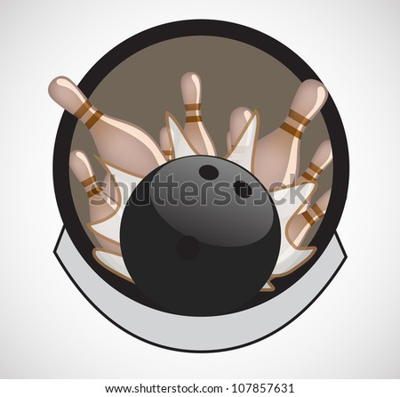 Vintage bowling - stock vector