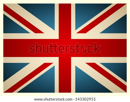 Vintage British Flag. Vector illustration. - stock vector