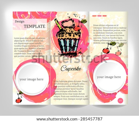Vintage Brochure Flyer Template Design White Stock Vector