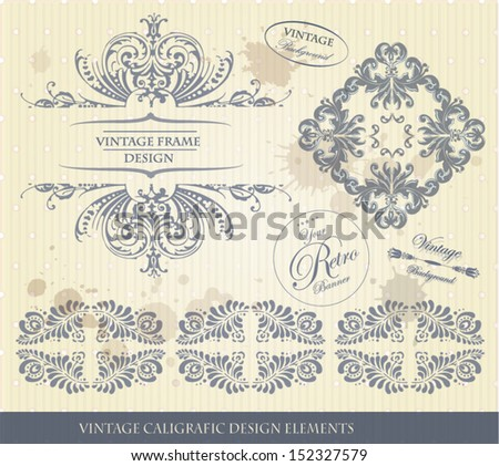 Vintage caligraphic collection - stock vector