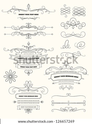 Vintage Calligraphy Design Elements - stock vector