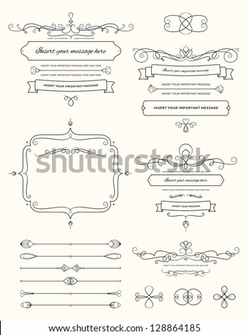Vintage Calligraphy Design Elements Two - stock vector