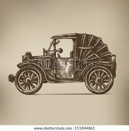 Vintage Car - stock vector