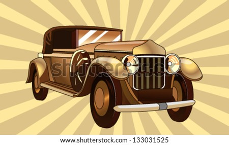 vintage car graphic - stock vector