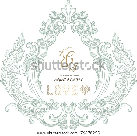 vintage card - stock vector