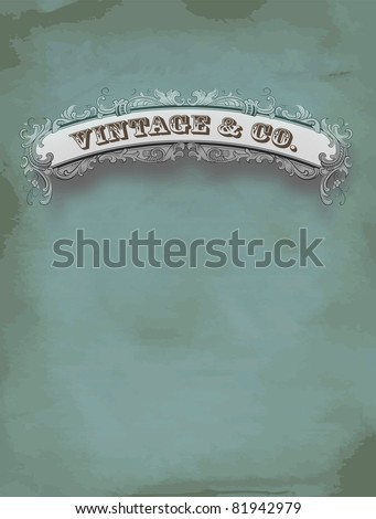 vintage card - stock vector
