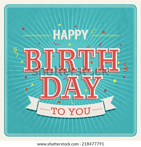 Vintage card happy birthday vector illustration stock vector vintage card happy birthday vector illustration bookmarktalkfo Image collections