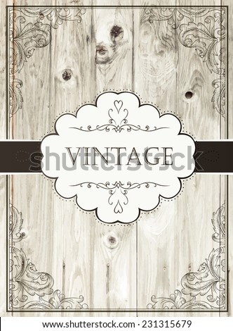 Vintage card template - stock vector
