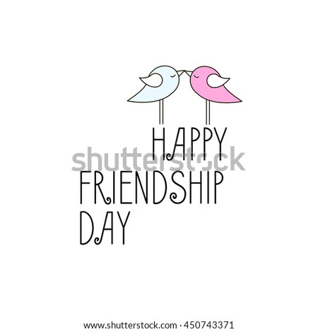 Friendship Card Cover Gift Vector Stock Images, Royalty-Free
