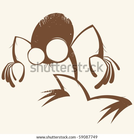 vintage cartoon monster - stock vector