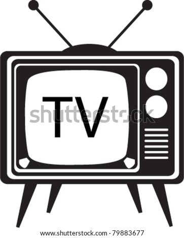 Vintage Cartoon TV vector illustration - stock vector