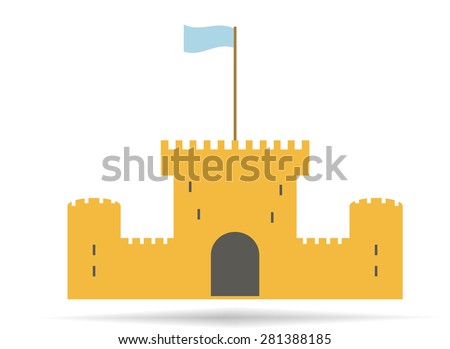 Vintage castle.Vector illustration