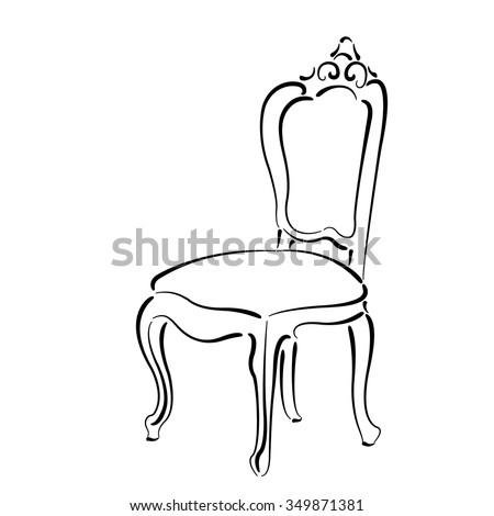 Chair Sketch vintage chair sketch stock vector 349871381 - shutterstock