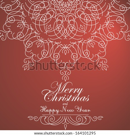 Vintage Christmas background for invitation, backdrop, card, new year brochure, banner, border, wallpaper, template, texture vector eps 10 - stock vector