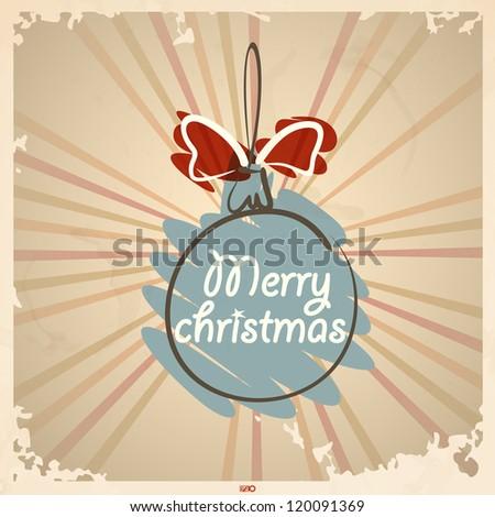 Vintage Christmas ball. Vector illustration. Eps 10. - stock vector